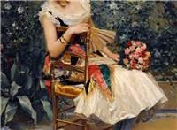 油画中的欧洲古典美女