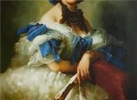 欧洲古典宫廷人物油画