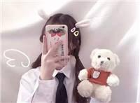手机挡脸可爱,拿手机挡着脸的图片女生