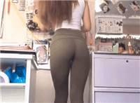 紧身裤 美女一字马