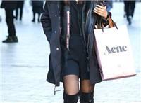 街拍:黑丝美女,冬季里演绎薄如蝉翼之美
