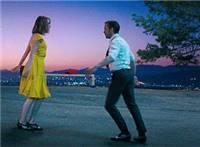 男女傍晚在城市郊外练习舞蹈动态图