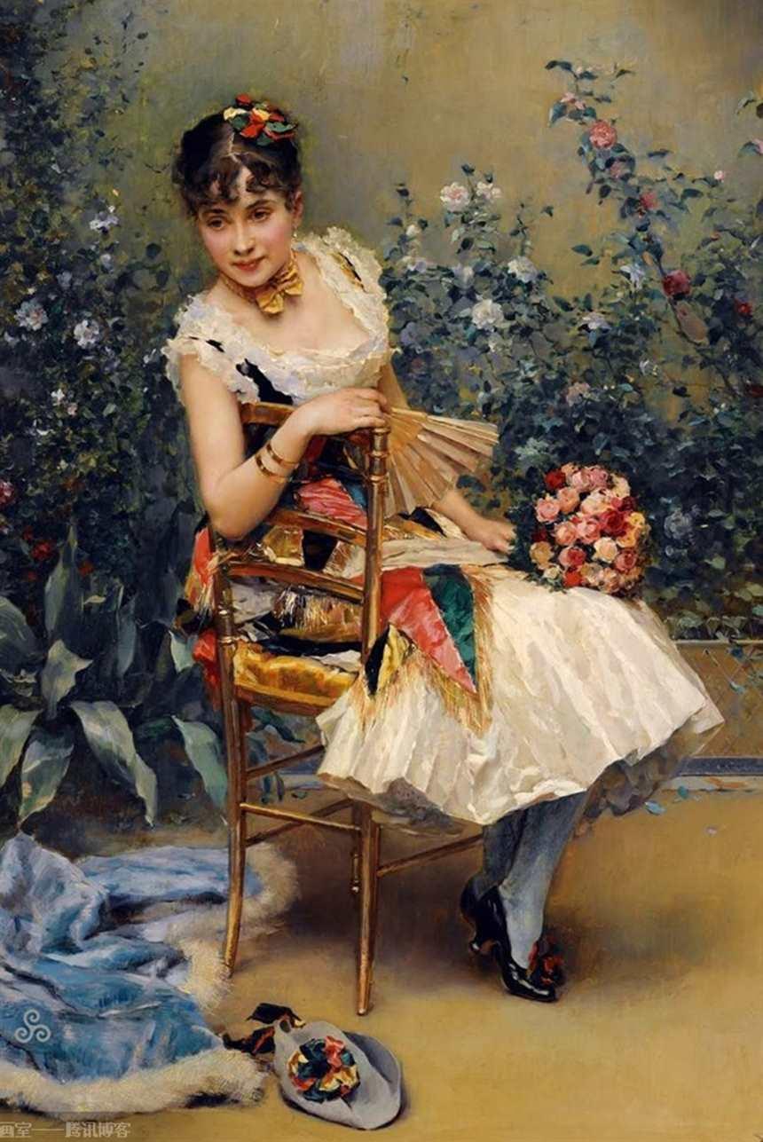 油画中的欧洲古典美女(点击浏览下一张趣图)